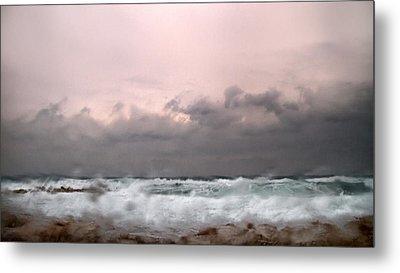Window Sea Storm  Metal Print by Stelios Kleanthous