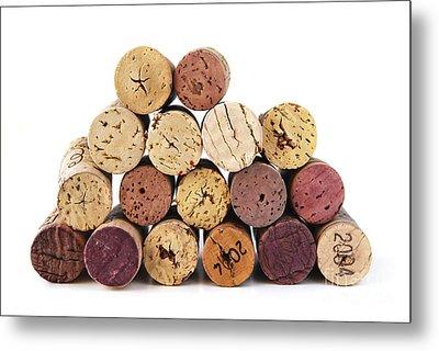 Wine Corks Metal Print by Elena Elisseeva