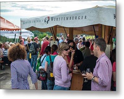 Wine Tour In Uhlbach Near Stuttgart - Germany Metal Print by Frank Gaertner