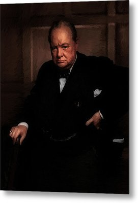 Winston Churchill Metal Print by Doc Braham