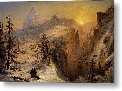 Winter In Switzerland Metal Print by Jasper Francis Cropsey