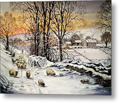 Winter In The Ribble Valley  Metal Print