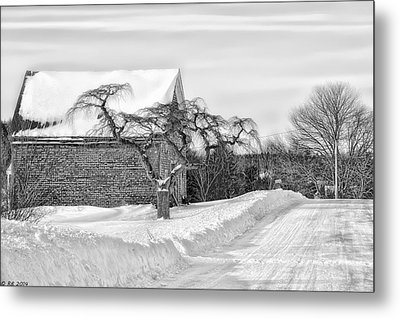 Winter Is Our Guest Metal Print by Richard Bean