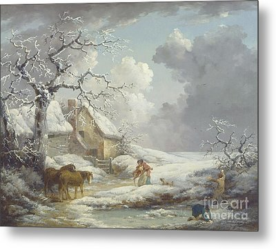 Winter Landscape Metal Print by Pg Reproductions
