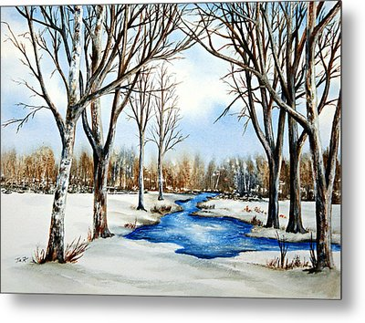 Winter Respite Metal Print by Thomas Kuchenbecker