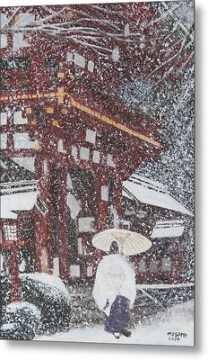 Winter Scene From Japan Metal Print