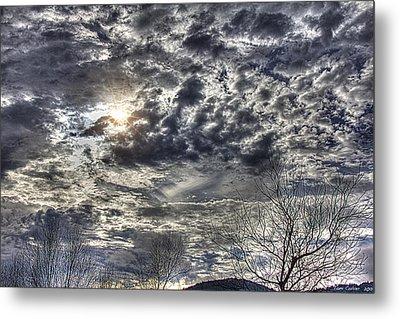 Winter Sky Metal Print by Tom Culver