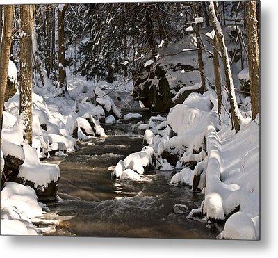 Winter Stream Win 67 Metal Print by G L Sarti