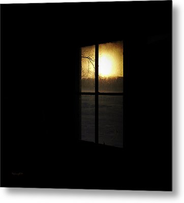 Winter Sunset Metal Print by Cynthia Lassiter