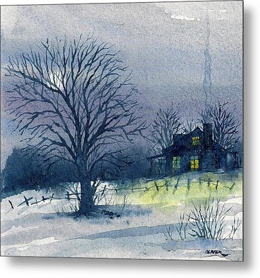 Metal Print featuring the mixed media Winter Tree by Tim Oliver