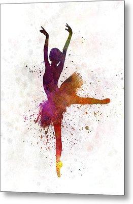 Woman Ballerina Ballet Dancer Dancing  Metal Print by Pablo Romero