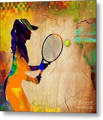 Womens Tennis Metal Print by Marvin Blaine