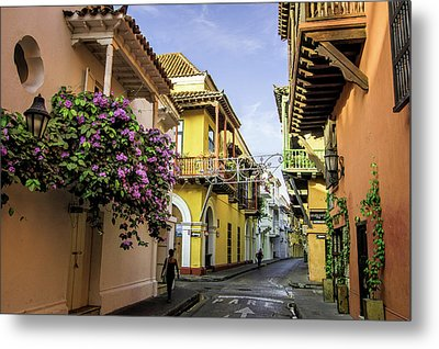 Wonderful Spanish Colonial Architecture Metal Print by Jerry Ginsberg