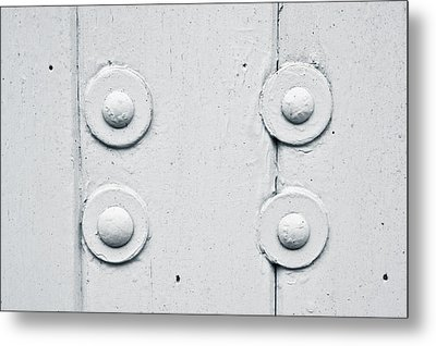 Wood And Bolts Metal Print by Tom Gowanlock