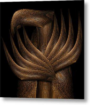 Wooden Bird Metal Print by Christopher Gaston