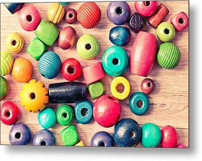 Wooden Peices Metal Print by Tom Gowanlock