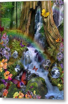 Woodland Forest Fairyland Metal Print by Alixandra Mullins