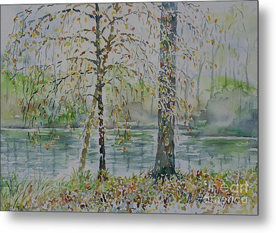 Metal Print featuring the painting Woodmans Pond by Alfred Motzer