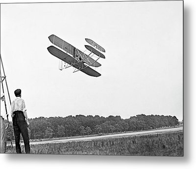 Wright Military Flyer Metal Print by Library Of Congress
