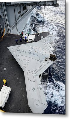 X-47b Unmanned Combat Air Vehicle Metal Print by Us Air Force