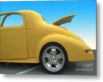 Yellow Coupe Metal Print