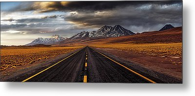 Yellow Road Metal Print