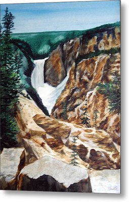 Metal Print featuring the painting Yellowstone by Ellen Canfield