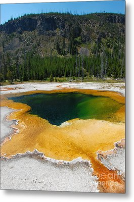 Yellowstone Emerald Pool Metal Print