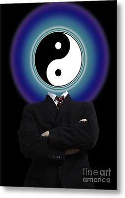 Yin Yang In A Man Metal Print by Monica Schroeder