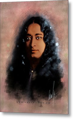 Yogananda Metal Print by Graphicsite Luzern