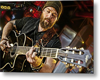Zac Brown Metal Print by Don Olea