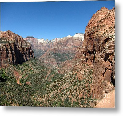 Zion Canyon Overlook Metal Print