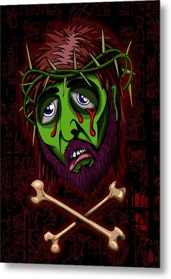 Zombie Superstar Metal Print by Steve Hartwell