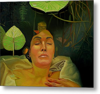 Metal Print featuring the painting 10 30 A.m. by Thu Nguyen