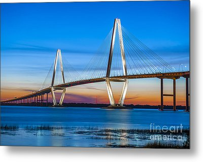 Charleston Arthur Ravenel Bridge Metal Print by Dale Powell