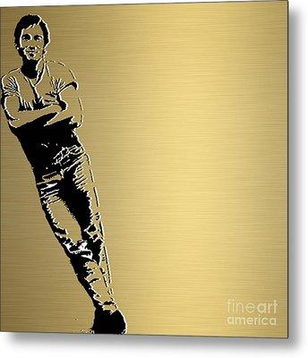 Bruce Springsteen Gold Series Metal Print