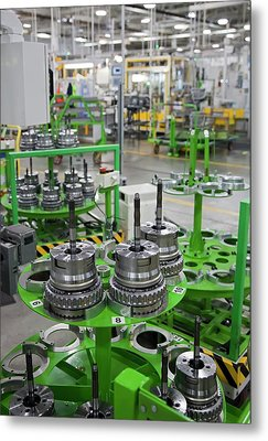 Car Transmission Assembly Line Metal Print