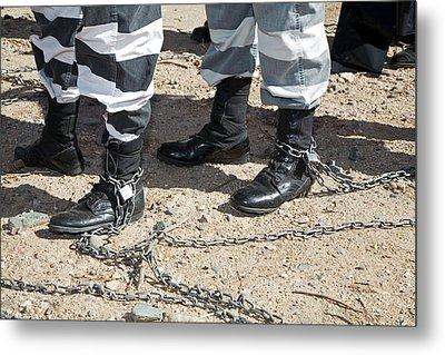 Chain Gang Metal Print by Jim West