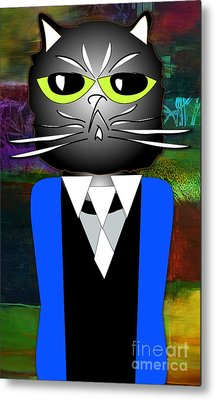 Cool Cat Metal Print by Marvin Blaine