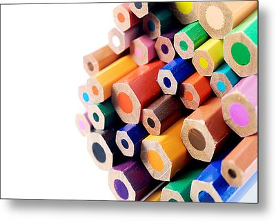 Crayons Metal Print by Chevy Fleet