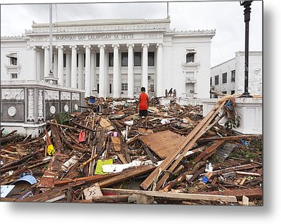 Destruction After Super Typhoon Haiyan Metal Print