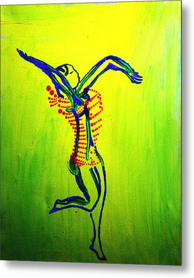 Dinka Dance - South Sudan Metal Print by Gloria Ssali