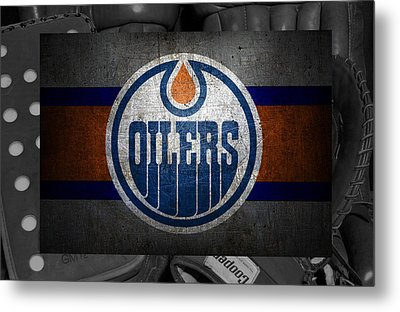 Edmonton Oilers Metal Print by Joe Hamilton