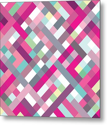 Geometric Art Metal Print by Mike Taylor