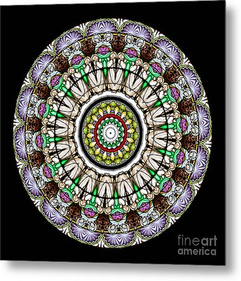 Kaleidoscope Stained Glass Window Series Metal Print