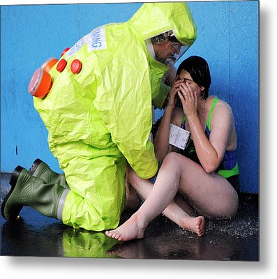 Major Emergency Decontamination Training Metal Print by Public Health England