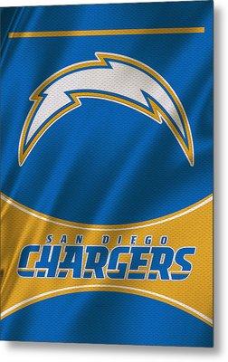 San Diego Chargers Uniform Metal Print by Joe Hamilton