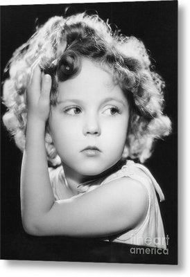 Shirley Temple Metal Print by MMG Archive Prints