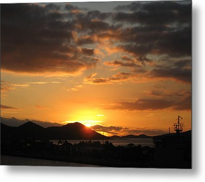 Sunset. Metal Print by Joyce Woodhouse