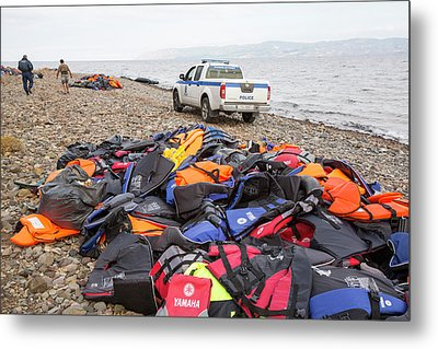 Syrian Refugees Metal Print by Ashley Cooper